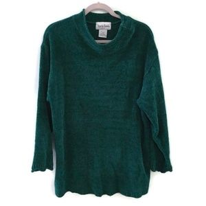 DIANE VON FURSTENBERG green mock neck sweater